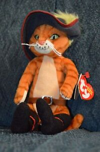 e94e0883aab Ty Beanie Baby ~ PUSS IN BOOTS the Cat ~ Shrek DVD Exclusive with ...