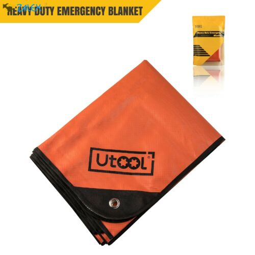Reusable Heavy Duty Emergency Blanket Tarp Thermal Reflective Survival X Large