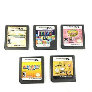 Lot-of-5-Nintendo-DS-Games-Wall-E-Tetris-MarioKart-Mario-Party-Sesame-St