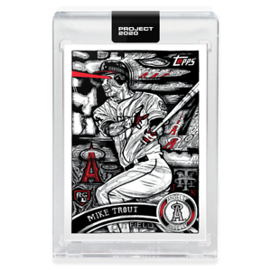 TOPPS PROJECT 2020 CARD Angels mike Trout #121 JK5 CENTERED +/-