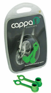 NEW 2 x GREEN CAPPA TYRE VALVE DUST CAPS DUST CAP MOTOCROSS MX ENDURO QUAD