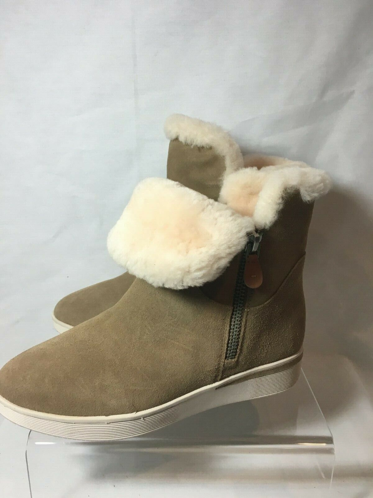 Gentle Souls by Kenneth Cole Light braun Shearling Zipper Stiefel Größe 10 M   NWOB