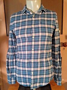 Original-Penguin-Mens-Heritage-Slim-Fit-Plaid-Flannel-LS-Shirt-Small