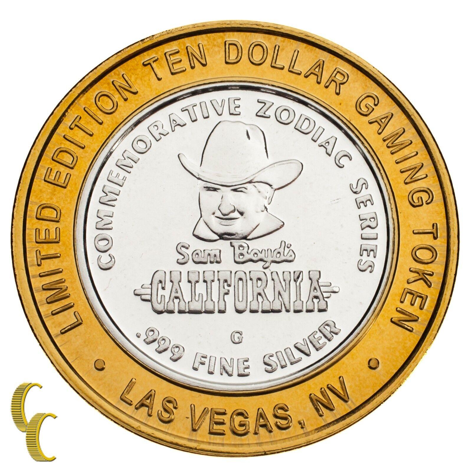 Sam Boyd's California Hôtel Casino Gaming Token Token Token An Du Mouton 999 Argent 9f958c