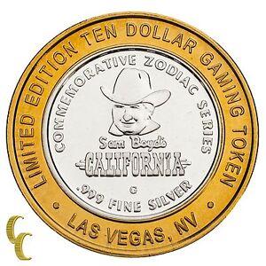 Sam-Boyd-039-s-California-Hotel-Casino-Gaming-Token-Year-of-the-Sheep-999-Silver