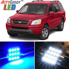 18 x Premium Blue LED Lights Interior Package Kit for Honda Pilot 03-05 + Tool