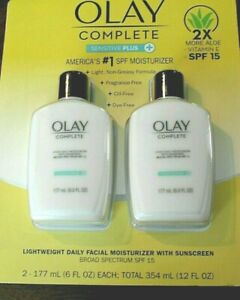 New-2-PACK-Olay-Complete-UV-Moisturizer-Sensitive-Plus-W-Sunscreen-6-oz-each