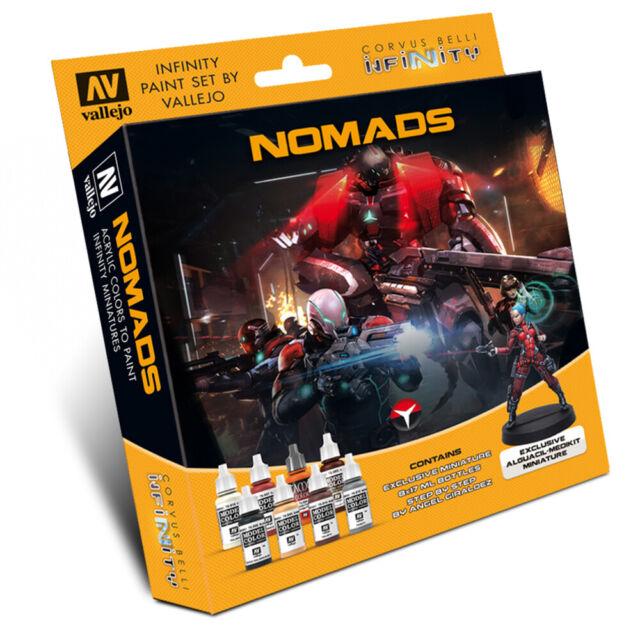 Nomads Vallejo Paint Set - Infinity Wargame Corvus Belli - Brand New VAL70233