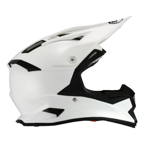 SU//AL-WHIT ACU GOLD STAMPED APPROVED SUOMY ALPHA GLOSS WHITE SKULL MX HELMET