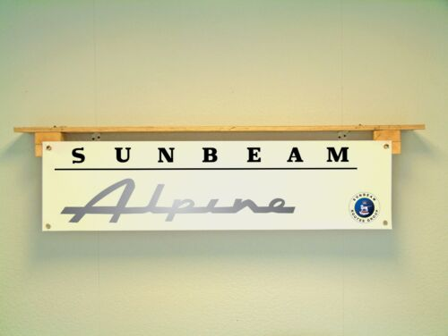 SUNBEAM ALPINE BANNER workshop garage Classic Car Display use