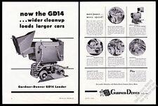 1946 Gardner-Denver train mining mine cart loader 6 photo vintage print ad