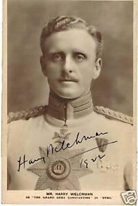 Mr-Harry-Welchman-1922-signed-postcard-photo-COA