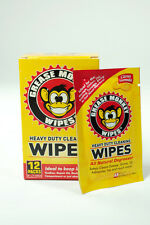 Grease Monkey Individual Heavy-Duty Cleaning Wipes NEW 12-Count