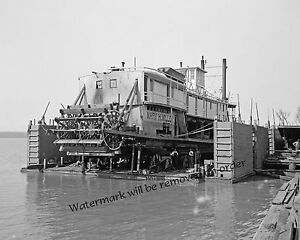 Historical-Photograph-of-Paddle-Wheel-Steamship-Mary-H-Miller-1906c-8x10