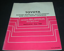 Repair Manual Toyota Supra MA70 Sport Roof  Werkstatthandbuch Karosserie 8/1986!