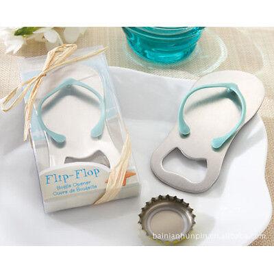 Metal Bottle Opener Flip Flop Beach Theme Wedding Favor Elegant Box 129