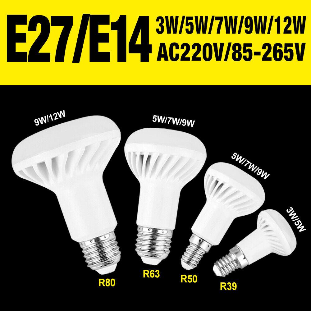 85-265V R39 R50 R63 R80 LED Lámpara Luz Reflector Lámpara De Repuesto E27 E14 B68A