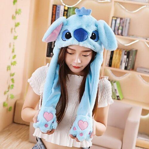 K826 Moving Ears Cartoon Pikachu Unicorn Stitch Plush Animal Novelty Dancing Hat