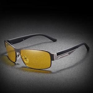 Gafas-para-hombre-Vision-Nocturna-HD-Lente-Amarillo-Gafas-de-sol-polarizadas-gafas-de-marco-de-metal