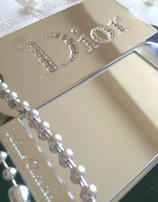 100% AUTHENTIC Exclusive DIOR COUTURE JEWEL SWAROVSKI DIAMOND MAKEUP BAG MIRROR