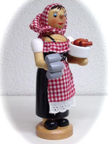 Räuchermann Räucherfigur Kellnerin Zensi mit Bierkrug 18 cm farbig 40091