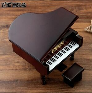 Details about JAPAN SANKYO RED WIND PIANO MUSIC BOX ♫ Jurassic Park Theme ♫