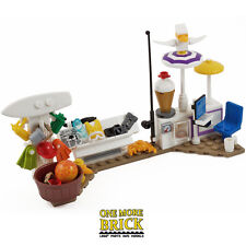 LEGO Beach Surf Shop - Seaside shop with Diver / Fishing gear & Beach items NEW