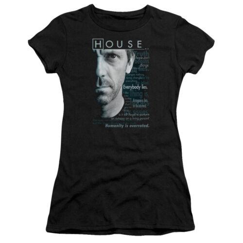 House MD Medical Drama TV Series Fox Hugh Laurie Houseisms Jrs Sheer T-Shirt