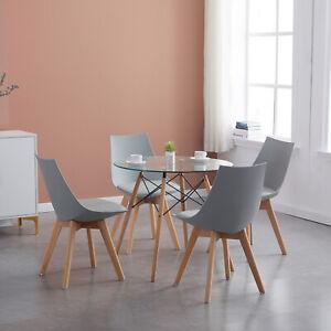 Esstisch Rund Küchentisch Modern mit 4er Set Retro Stühlen ...