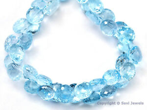 Blue-Topaz-Micro-Faceted-Tear-Drops-7-9x5-6-5mm-4-10-beads-Select-A-Size-A
