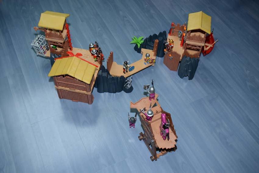 Playmobil Viking 3151 + 4433 + tour d'assaut TTBE vous achetez ce que vou