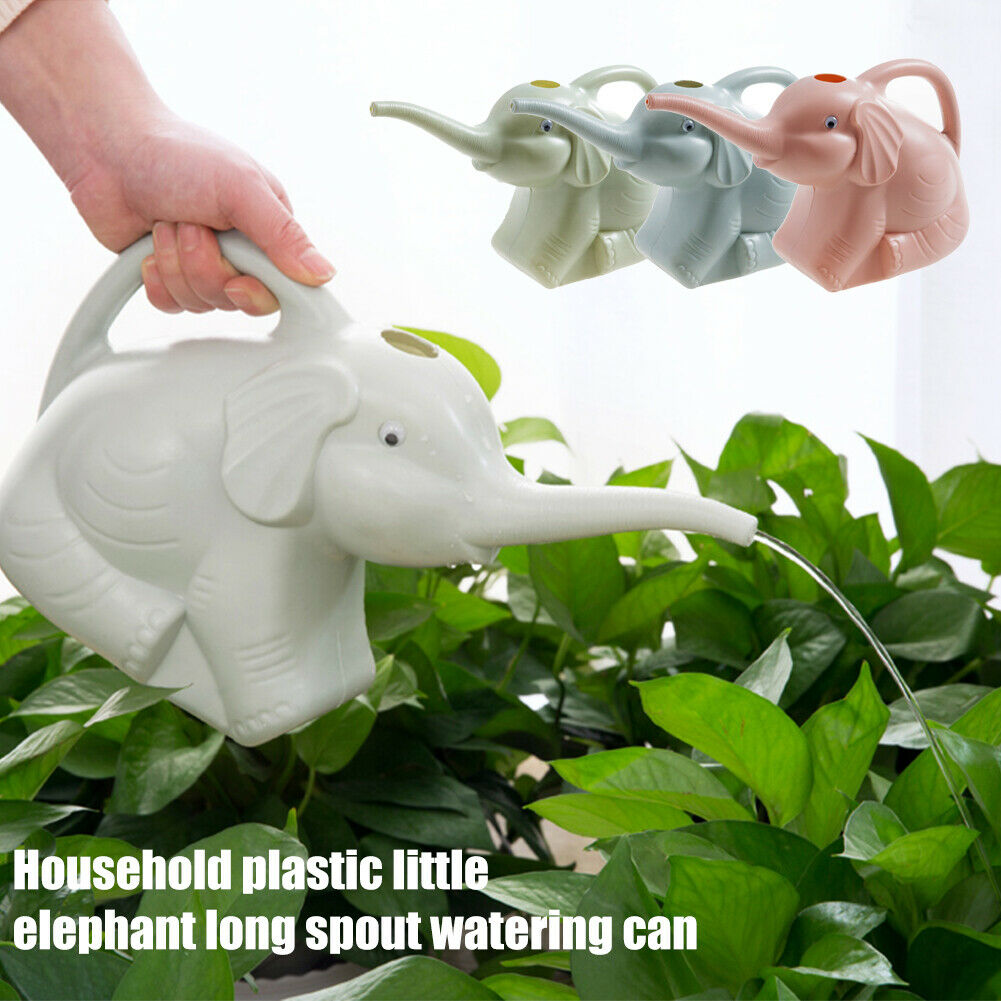 Watering Can Outdoor Garden Long Nozzle Home PP Cartoon Elephant Plant Flower