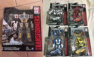 Transformers-Combiner-Wars-Battle-core-Optimus-Set-of-5-Prowl-Ironhide-Mirage