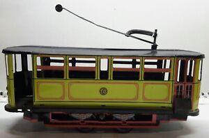 Vintage-giocattolo-in-latta-Car-by-HP-Tram-filobus