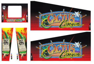 Actif Williams Cactus Canyon Flipper Machine Armoire Autocollants - Next Génération -