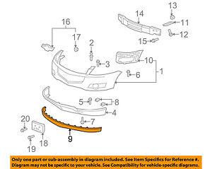 Chevrolet GM OEM Traverse Front Bumper Grille Grill-Mount Bracket Left 25826190