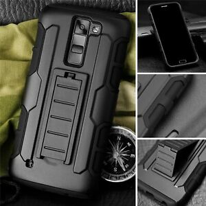 Protective Black Silicone Plastic Armor Case For  LG G4