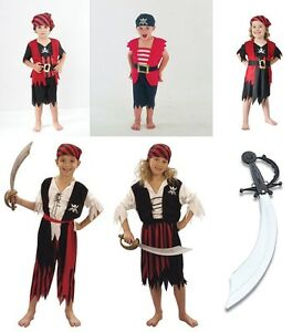 BOYS-GIRLS-KIDS-PIRATE-FANCY-DRESS-OUTFIT-CARIBEAN-BNWT-AGS-4-5-6-7-8-9-10-11-12