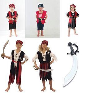 BOYS-GIRLS-KIDS-PIRATE-FANCY-DRESS-OUTFIT-CARIBEAN-BNWT-AGS-4-5-6-7-8-9-10-11-12