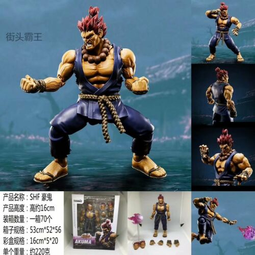 "S.H.Figuarts Capcom Street Fighter AKUMA Gouki 6/"" Shf Action Figure With Box"
