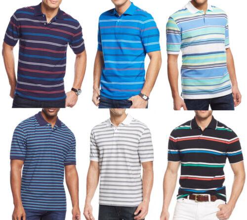New Mens Club Room Performance UPF Protection Stripe The Estate Polo Shirt