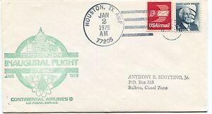 Ffc 1979 First Flight Continental Airlines Washington D.c. Houston Texas Balboa