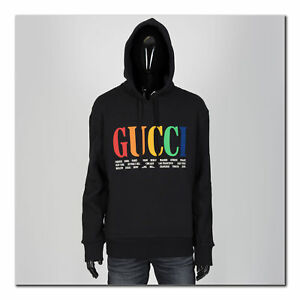 65eb62c2dc4 Image is loading GUCCI-1350-Authentic-New-Cities-Rainbow-Logo-Hooded-