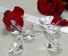 3 große Deko Diamanten Acryl 32mm Hochzeit Tischdeko Diamant klar