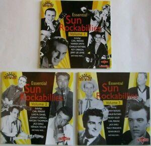ESSENTIAL-SUN-ROCKABILLIES-Vols-1-2-amp-3-CD-UK-Various-Artists