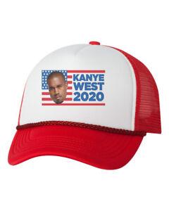 6215b1cde40d0 Kanyes West 2020 Yeezus Yeezy Custom Trucker Hat Adjustable Cap-Red ...