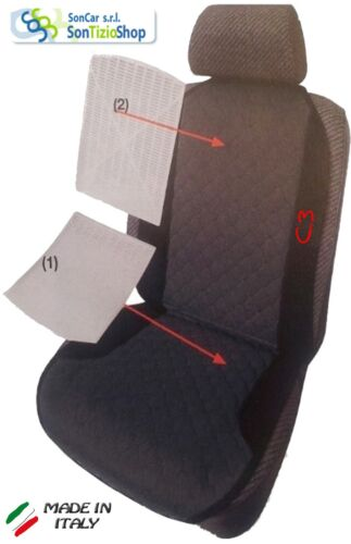 CITROEN C3 Schienale Coprisedile per Auto con Ricamo disponibile più colori!