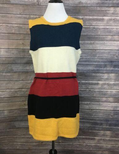 Marimekko Striped Sweater Dress (Size: M)