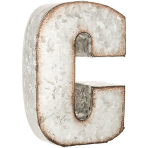 Galvanized Metal Letters Magnificent Rustic Galvanized Metal Thick Letters Wall Decor  Ebay Design Ideas