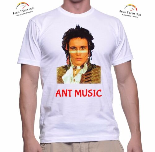 ADAM AND THE ANTS ANT MUSIC  Retro Vintage ROCK  Classic PRINTED T SHIRT